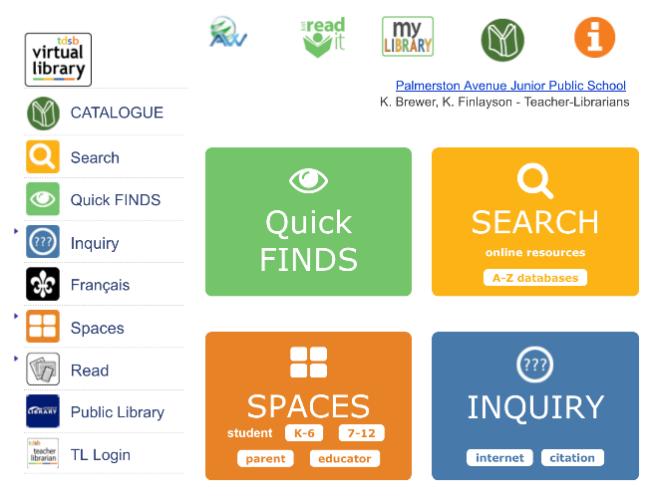TDSB Virtual Library - Screen Shot