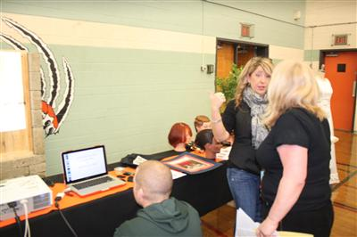 Hairstyling at the Courses Selection Fair