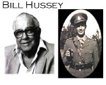 Mr. Hussey as a veteran and as a dapper soldier with a mischieveous smile.