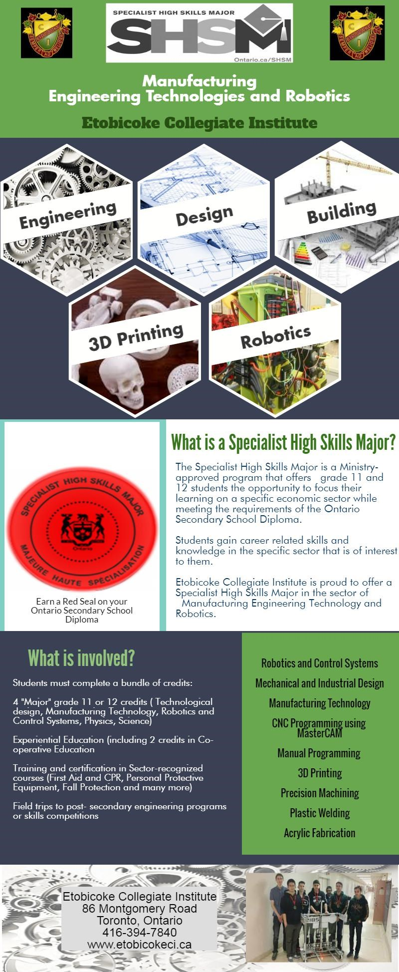 infographic about Specialist High Skills Major in Engineering Technologies