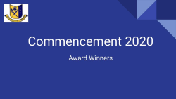 Commencement Award Winners