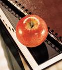 Apple on book image