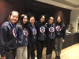 Girls Curling Team with Silver Medals