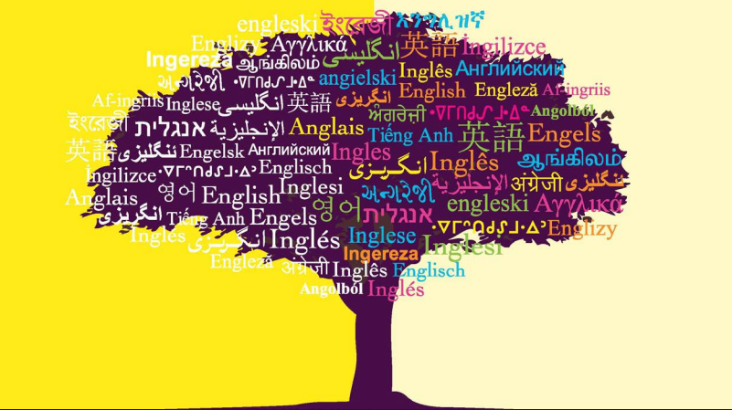 Graphic Image of Tree with many languages