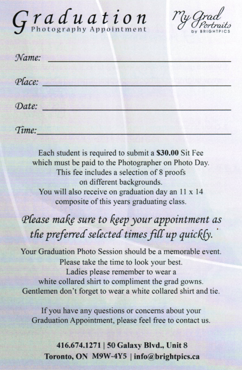 Image of how to sign up for graduation photos page 2