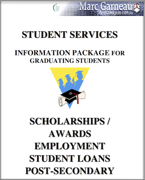 Graphic Image of Cover of Information Package for Graduating Students