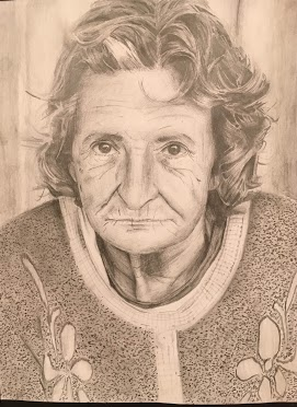 Image of a woman - Grade 11 Realistic Pencil Portraits