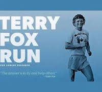 Graphic Image Reading Terry Fox Run