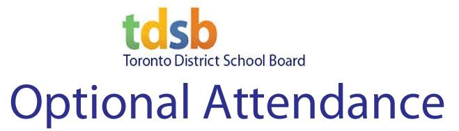 tdsb optional attendance form pdf