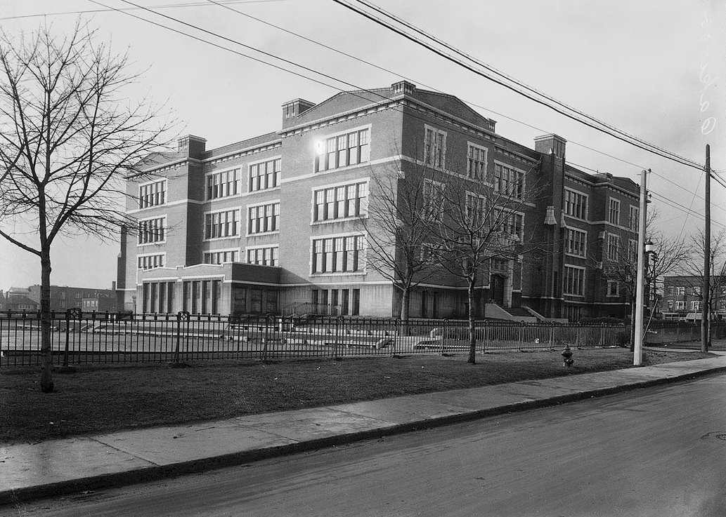 Front view of school in 1923s