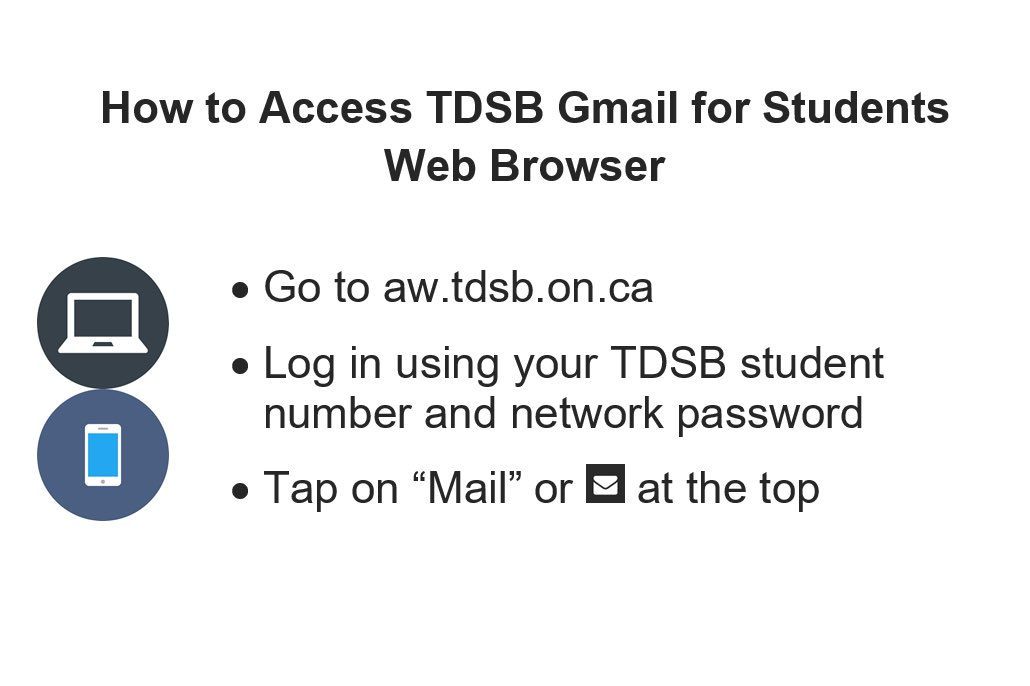 Instructions on accessing email