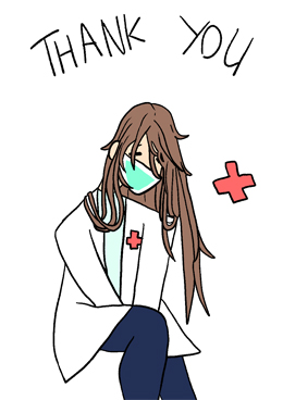 Thank You Health Care Worker illustration