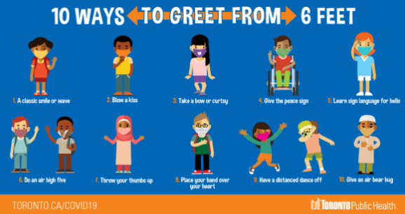 10 ways to greet from 6 feet