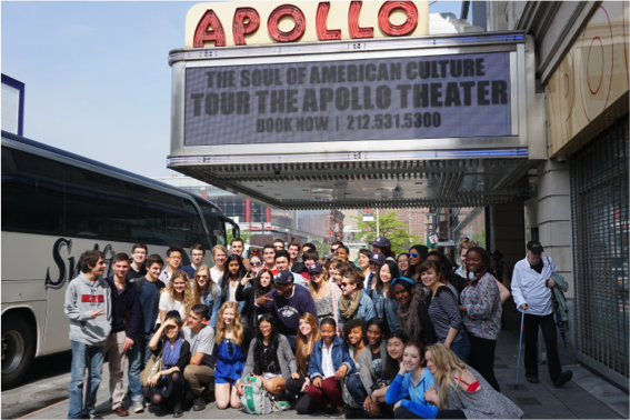 Students in front of Apollo