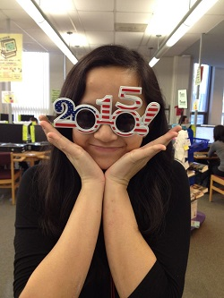 2015 decorated glasses design with student