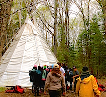 teepee with children