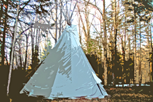 Teepee in the forest