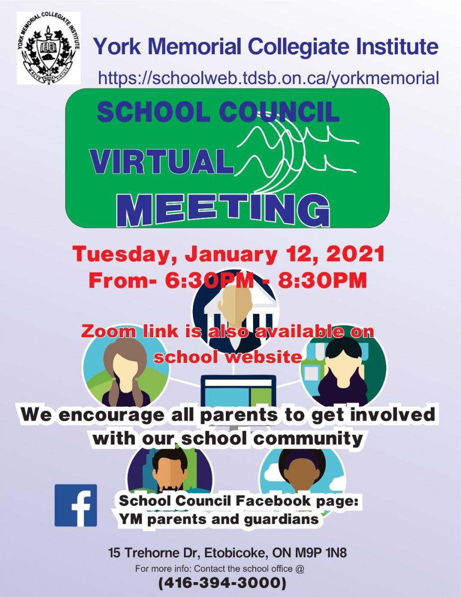January 12 School Council Meeting